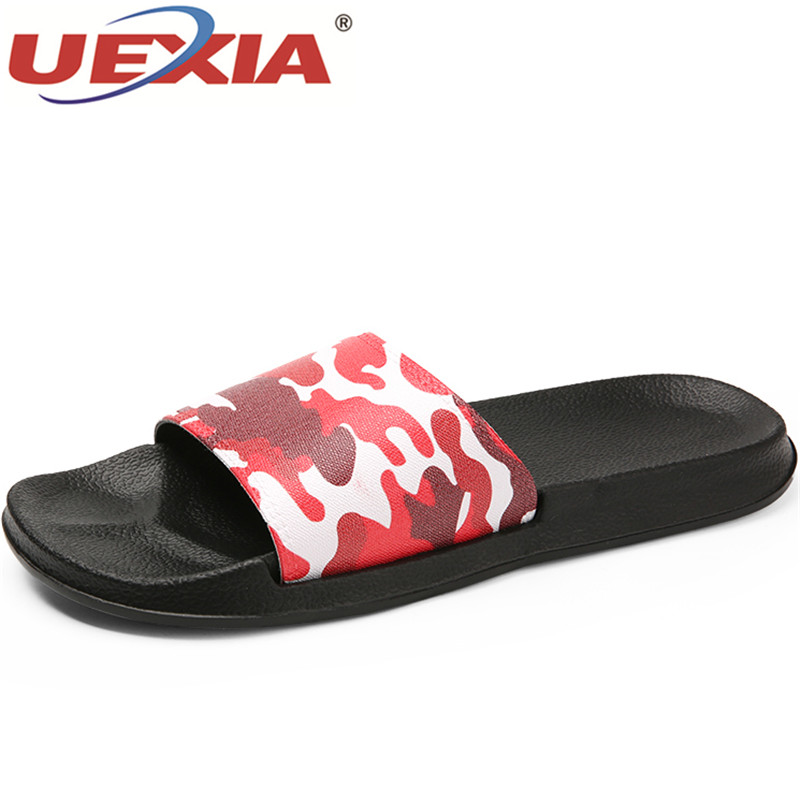цены UEXIA Summer Unisex Flip Flops Slippers Women Soft Comfortable Bottom Light Bathroom Shoe Slides Black White Beach Home Slippers