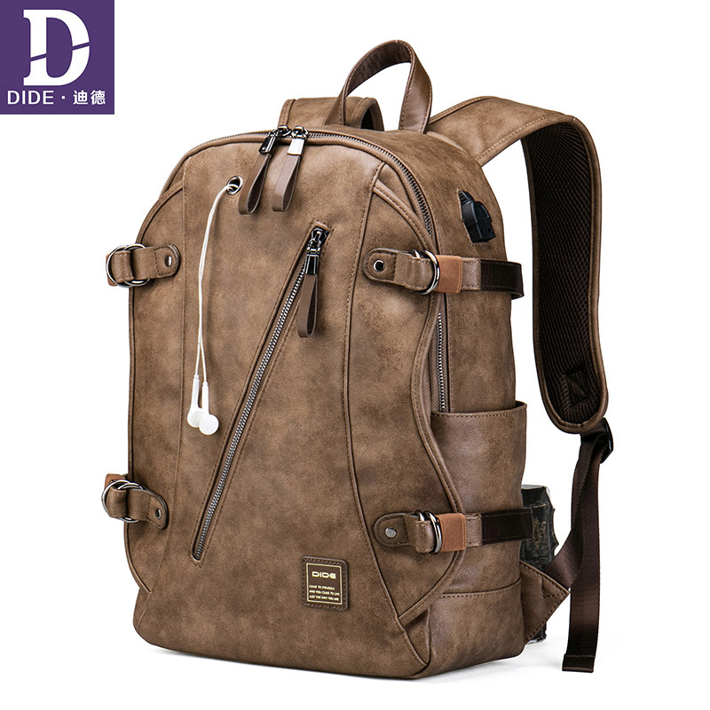 Dide Anti Theft Backpack Usb Charging Backpack School Bag Men Travel Teen Boys Back Pack Leather Bagback Waterproof