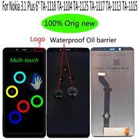 "LCD Shyueda 100% על המקור NEW 6"" עבור נוקיה 3.1 פלוס ת""א-1118 TA-1104 TA-1125 TA-1117 TA-1113 TA-1115 מסך LCD Display Touch Digitizer (1)"