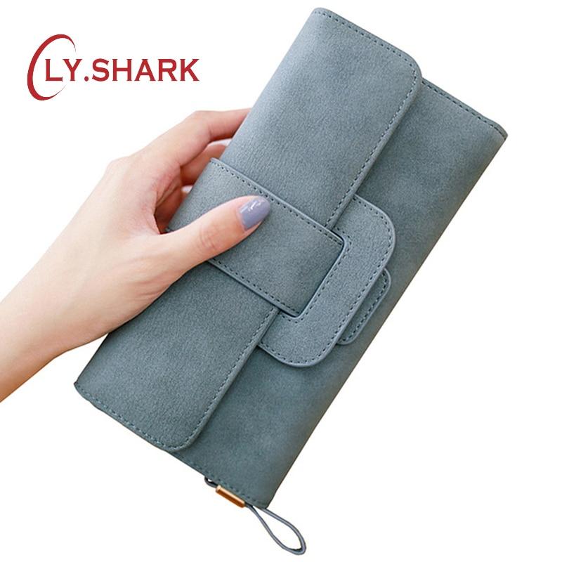 LY.SHARK Dlouhé dámské kožené peněženky Dámské peněženky a - Peněženky