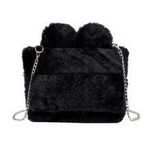 Winter Soft Faux Fur Bag Small Fashion Women Fur Tote Bag Warm Plush Handbag Ladies Girls Shoulder Bag Luxury Messenger O12(China)
