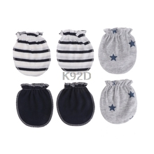 Fashion Baby Anti Scratching Gloves Newborn Protection Face Cotton Scratch Mittens 3 Pairs J09