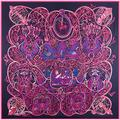 Boutique Luxury Women 100% Twill Silk Soft Scarves Female Cover-up Shawl Large Square One Thousand and One Nights Pashmina Scarf
