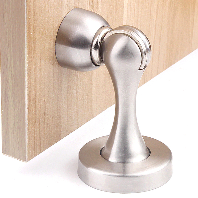 Stainless Steel Interior Door Stopper Magnetic Stop Collision Protection Wall Practical Fixed Suction