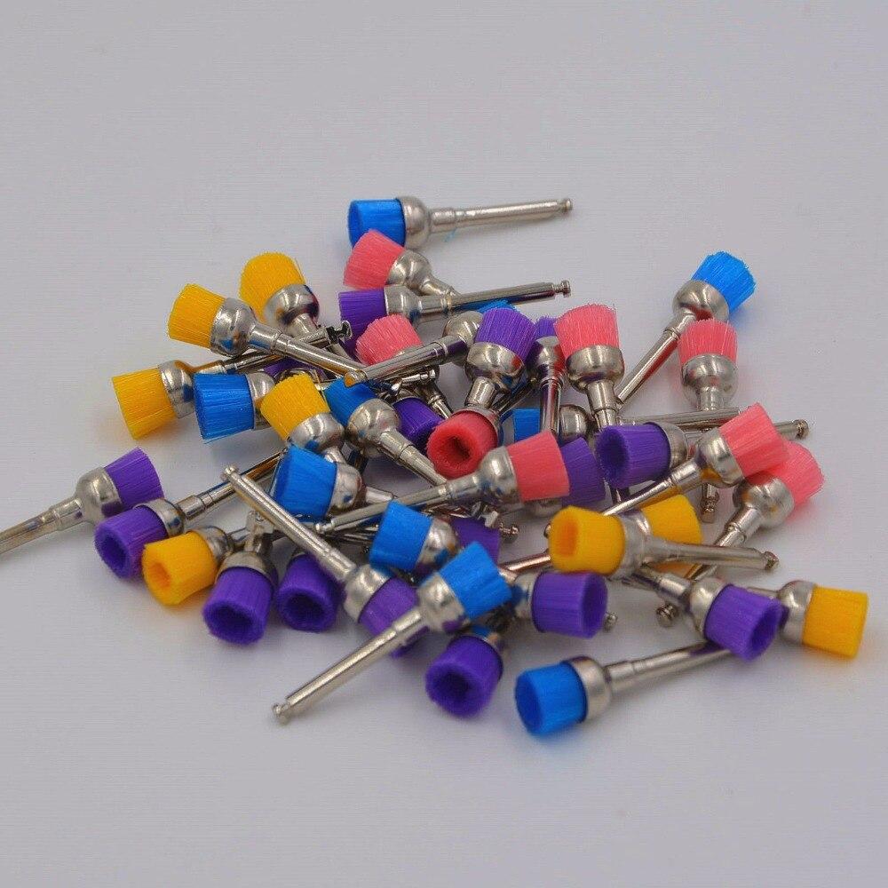 100 Pcs/Set Dental Nylon Small Latch/Taper Polishing Polisher Prophylaxis Polish Brush/Cup/Bowl Mixed Color
