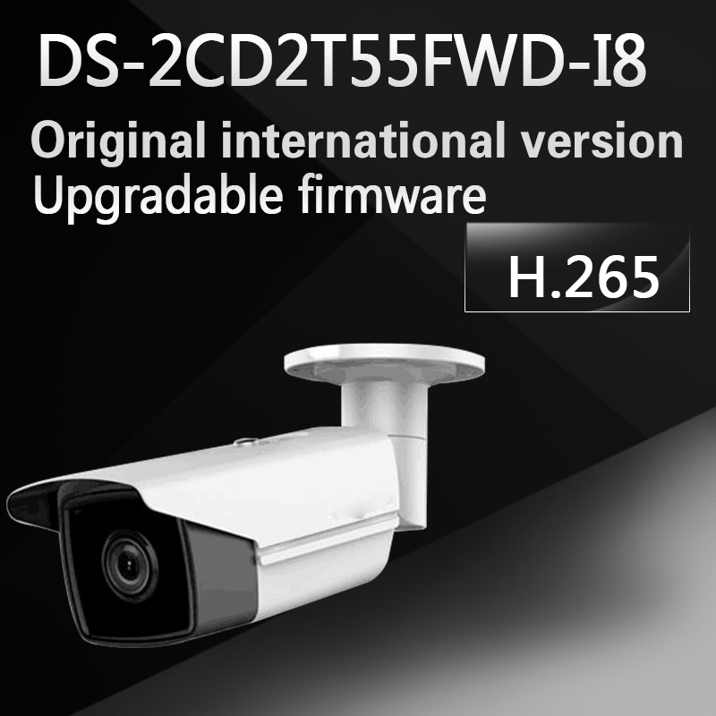 Free shipping english version DS-2CD2T55FWD-I8 replace DS-2CD2T55-I8 5MP Ultra-Low Light Network Bullet Camera with 80m IR