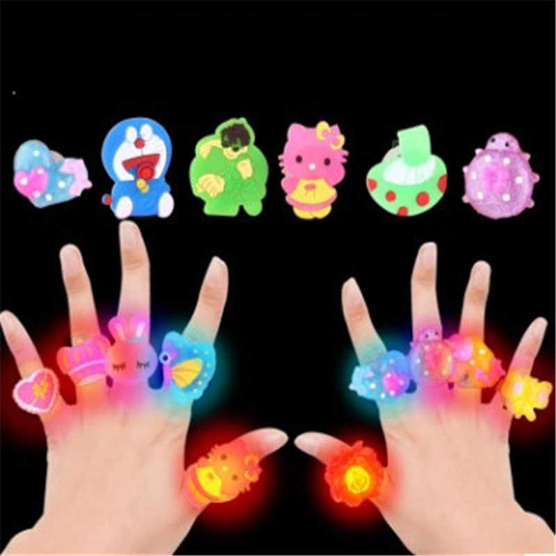 2018 new arrival baby LED toys children's light toys children gifts LED flash light ring cartoon ring with led lights