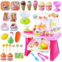 Children's Convenient Supermarket toy Cashier Ice Cream Cart Ice Cream Shopping Cart Sales Desk Toys