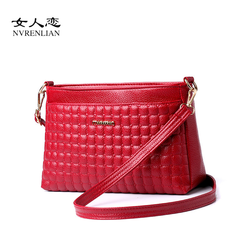 NVRENLIAN Brand Leather Women Messenger Bags Crossbody Bag Female Shoulder Bags for Girl Clutch Small Handbags Bolsas Femininas women floral leather shoulder bag new 2017 girls clutch shoulder bags women satchel handbag women bolsa messenger bag