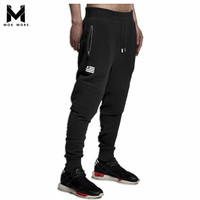 Brand Design 2015 Personality Casual Pants Mens Joggers Fashion Quality Drawstring Elastic Waist Loose Man Sports