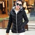 Moda Down & Parkas Quente Casaco de Inverno Curto 2017 Novas Mulheres luz de Inverno de Espessura Plus Size 3XL Jaqueta Com Capuz Feminino Outerwear Y301