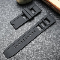 Wholesale Black Silicone Strap special For Invicta men watch High quality Wrist Band Rubber Belt black bracelet