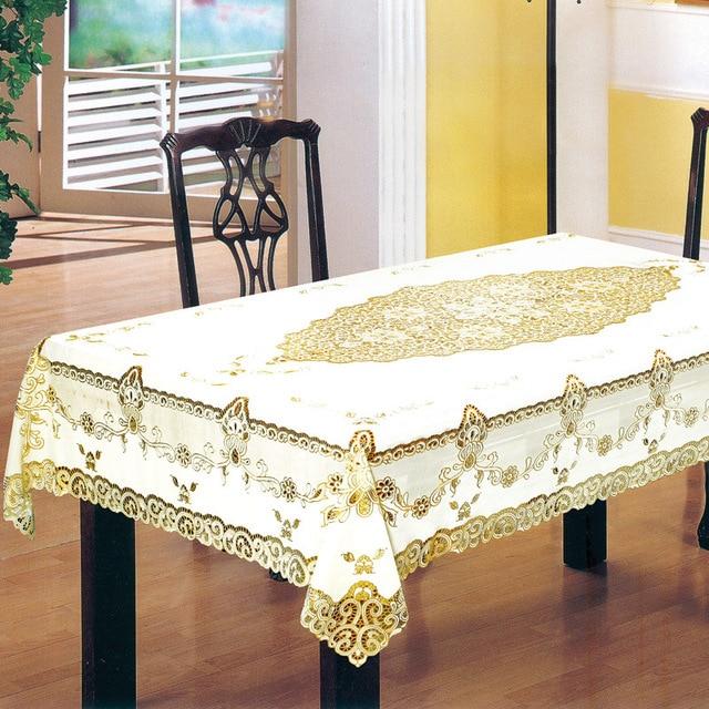 Us 2176 Pvc Europese Tuin Tafelkleed Waterdicht En Oilproof Geel Print Voor Bruiloft Tv Kast Kussen Pakket Elegante Snelle Verzending In Pvc