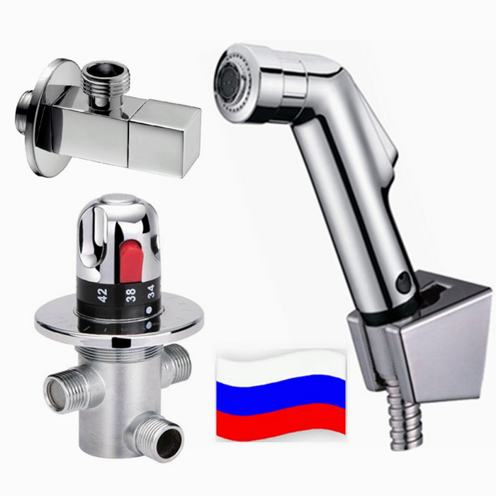 Free shipping (G1/2) Brass Thermostatic Mixing Valve, Adjust the Mixing Water Temperature Thermostatic mixer Bidet Sprayer BD198Free shipping (G1/2) Brass Thermostatic Mixing Valve, Adjust the Mixing Water Temperature Thermostatic mixer Bidet Sprayer BD198