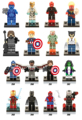 Sola venta super hero the avengers iron man batman capitán américa wolverine winter soldier bloques de construcción de juguetes
