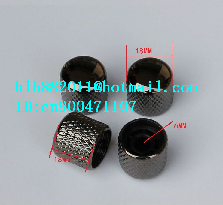free shipping new electric guitar and bass 4 tone and  volume metal electronic Control Knobs cap in black nickel  NB003  DM-8072 electric bass guitar 2016 new 4 string bass guitar bass guitar guitar in china