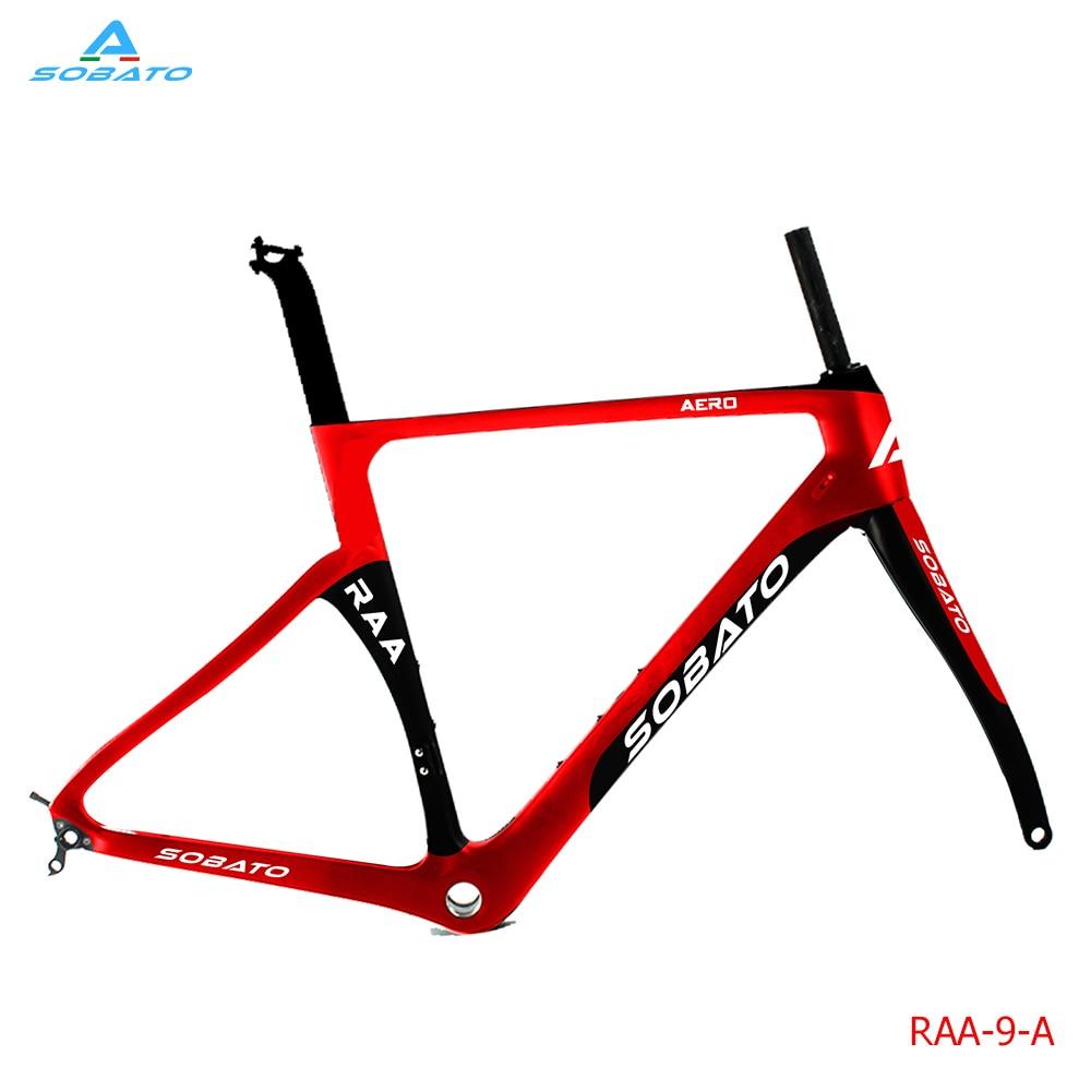 SOBATO 700c carbon bike frames taiwan BSA/BB30 toray carbon t700 bikes frames Time track Aero UD/3k RAA