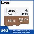 <font><b>Lexar</b></font> Tarjeta Оригинал 667x Micro SDXC UHS-I con adaptador 64 Гб 256 ГБ 128 ГБ A2 U3 V30 Clase 10 1080 p HD 4 K 3D де видео