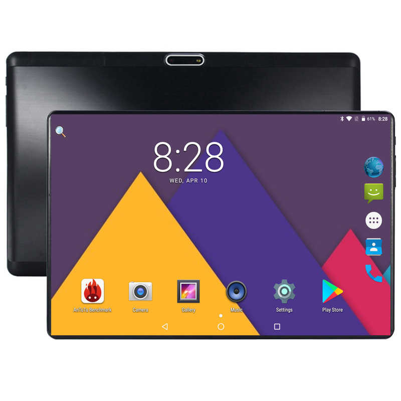 2019 Edition Tempered 2.5D Glass 10 inch tablet Android 8.0 Octa Core 4GB RAM 64GB ROM 1280x800 HD IPS Screen Tablets 10.1 Pad