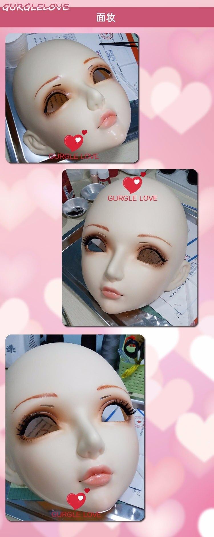 lolita realista real máscara crossdress boneca