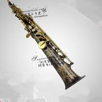 HOT High Quality Soprano Saxophone Black One Saxophone B Soprano Sax Professional Grade DHL UPS Free
