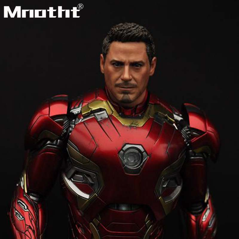 Civil War Tony Head Sculpt War Damage Version 1/6 Scale Male Head Carving Model toys m3 Collection DIY Hobbies бра reccagni angelo a 8650 1