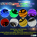 12V LED Strip 5050 Light 60pcs/M 14.3W/M 5M 300 LED Flex Tape Waterproof IP20 IP65 Superbright LED Strips Anywhere Indoor CE FCC