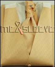 hot sale check pattern  Men's Dress Tuxedo Vest ascot tie 4pcs