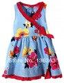 Las niñas se visten catimini 2014 verano francesa catimini niño flores sin mangas del vestido L5