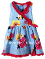 girls dress catimini  2014  summer French catimini child sleeveless  dress flowerS sundress L5