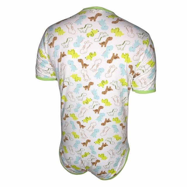 Sissy ABDL Onesie Diaper Lover Adult Baby Bodysuit Man Onesie Snap Crotch Romper Pajamas