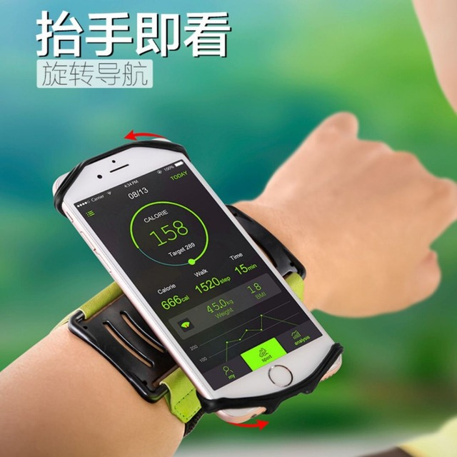 SzBlaZe Professional Rotatable Running Bag Wrist Band Arm cell phones Holder Sport pocket accessories For Gym Fitness Jogging 2