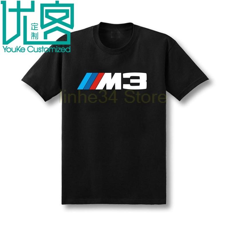 Mannen t-shirt NIEUWE Bayerische motoren Werke M3 M SERIE MPOWER MOTORSPORT tshit auto logo ontwerp katoen tee