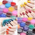 Fashion 6 Pcs Pure UV Gel Nail Polish Color Nail Art Tips Builder Gel Extension Manicure Free Shipping