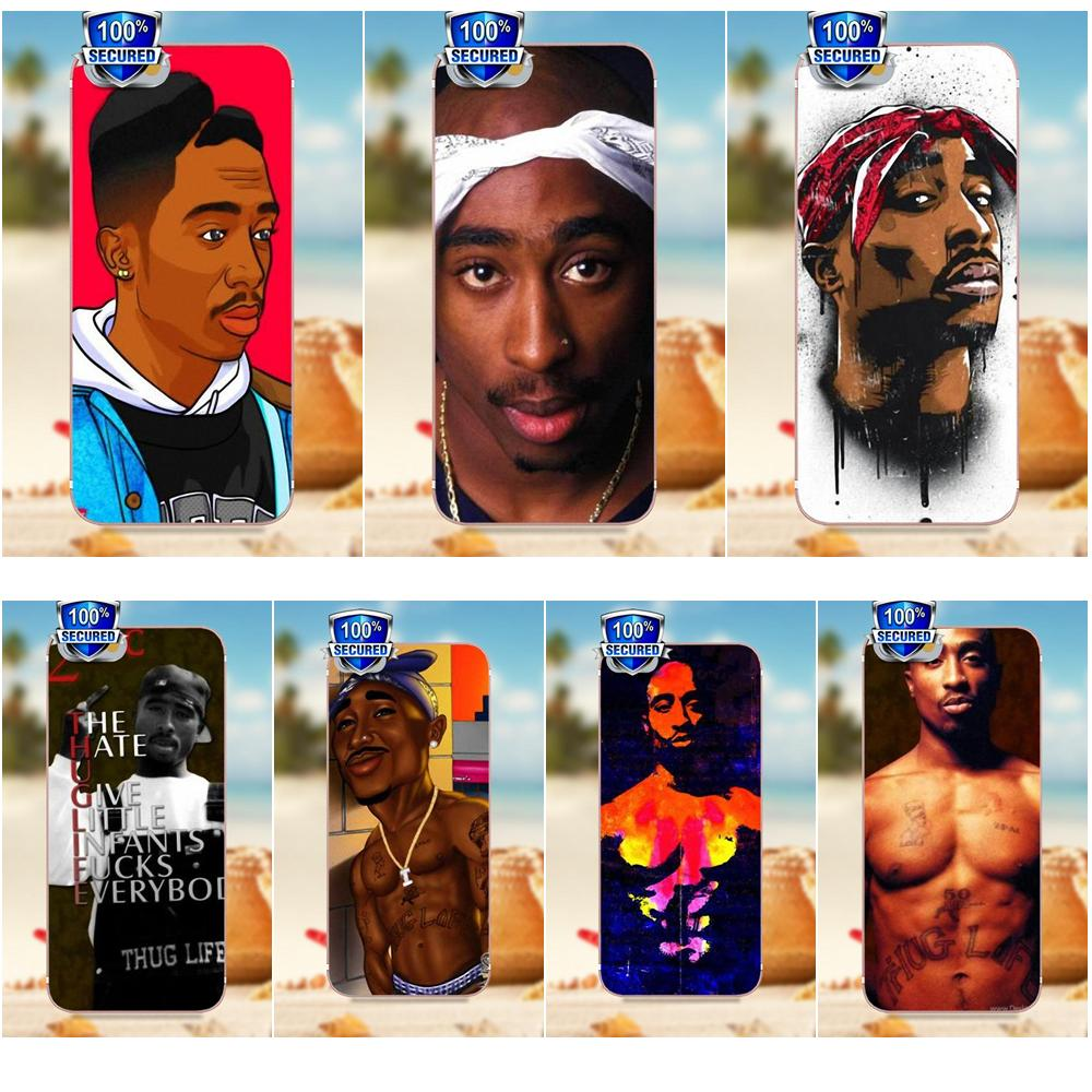 For Galaxy Alpha Core Prime Note 4 5 8 S3 S4 S5 S6 S7 S8 S9 Mini Edge Plus Soft Tpu Best Cases 2pac Makaveli Tupac Amaru Shakur Selling Well All Over The World Phone Bags & Cases Half-wrapped Case
