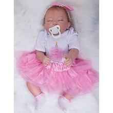 Closed Eyes Sleeping Baby Girl 20 Inch Lifelike Newborn Alive Babies Toy Realistic With Soft Vinyl Limbs Kids Birthday Xmas Gift