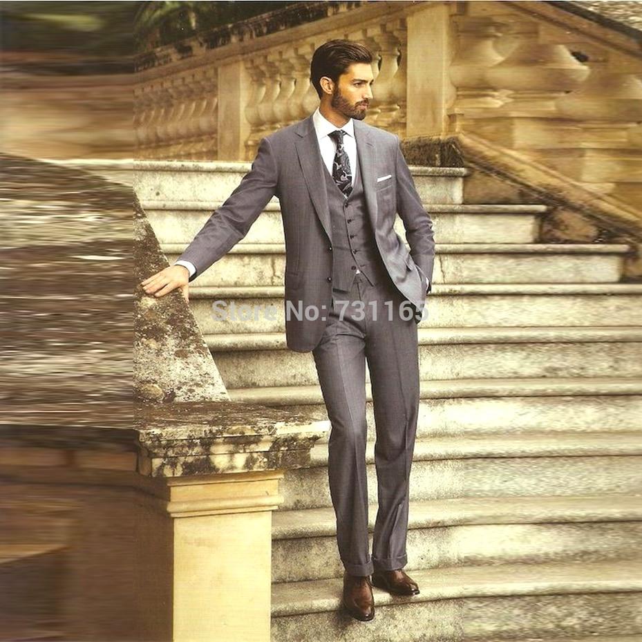 Silver men blazer suit vest slim blazer for men blazer morning suit wedding blazer slim (jacket+pants+Vest)