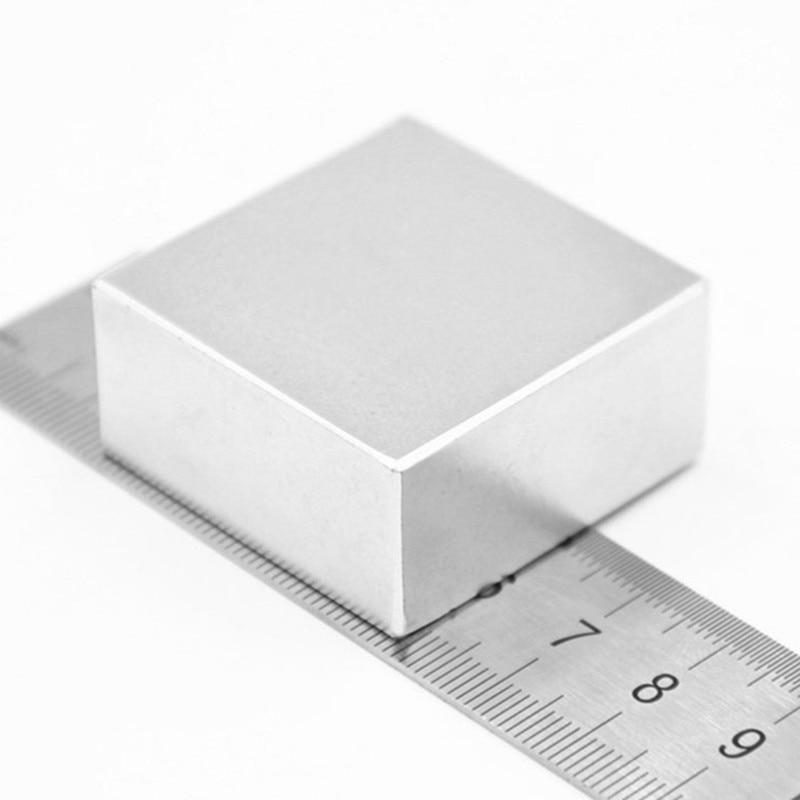 1 unids bloque 40x40x20mm súper poderoso fuerte raro bloque de tierra NdFeB imán de neodimio de N52 imanes
