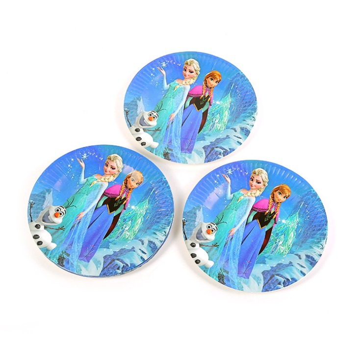 Image 3 - 100pcs for 10 people Disney Frozen Princess Anna Elsa Tableware Set Children happy Birthday kids Party Supplies Decorations-in Disposable Party Tableware from Home & Garden