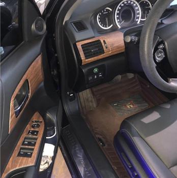 Car styling 17 pcs set For Honda Accord 9.5th Wood grain texture internal Dash trim kit