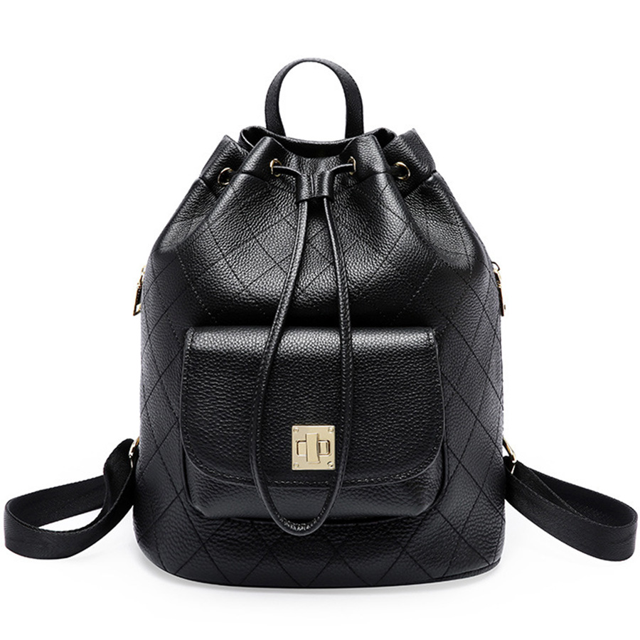 Genuine Leather Ladies backpack Women bags for women 2018 luxury women sac a dos bags designer backpack Handmade bag