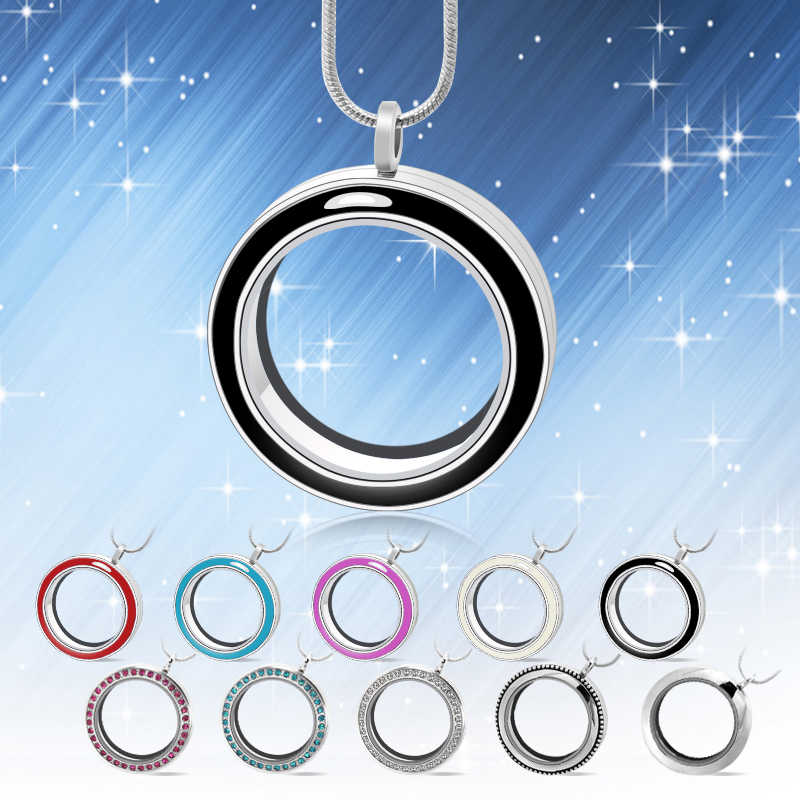 diylocket 30mm Round Twist glass floating charm locket Living memory locket 10 styles chains included for free LSFL024