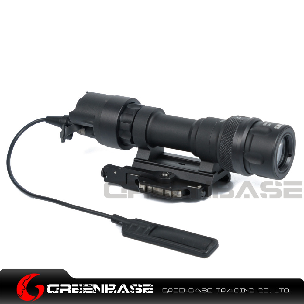 Greenbase SF M952V Tactical Flashlight Dual Output Weapon Light Tactical Rifle Light Hunting Flashlight QD Mount With 400 Lumens greenbase tactical m300 m300b mini scout light outdoor rifle hunting flashlight 400 lumen weapon light led lanterna