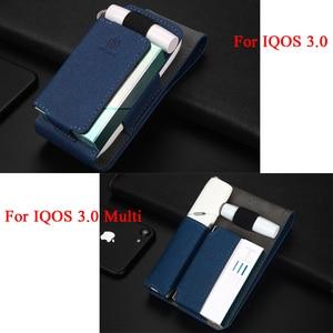 Image 2 - Luxus Leder Tragbare Abdeckung Fall Für IQOS 3 Tasche IQOS 3,0 Multi Schutzhülle Zigarette Fall Abdeckung Für IQOS 3,0 Multi tragetasche