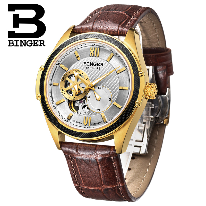 Switzerland Binger Watch Men Luxury Brand Miyota Automatic Mechanical Movement Watches Sapphire Waterproof reloj hombre B-1165-4 switzerland men watch automatic mechanical binger luxury brand wrist reloj hombre men watches stainless steel sapphire b 5067m