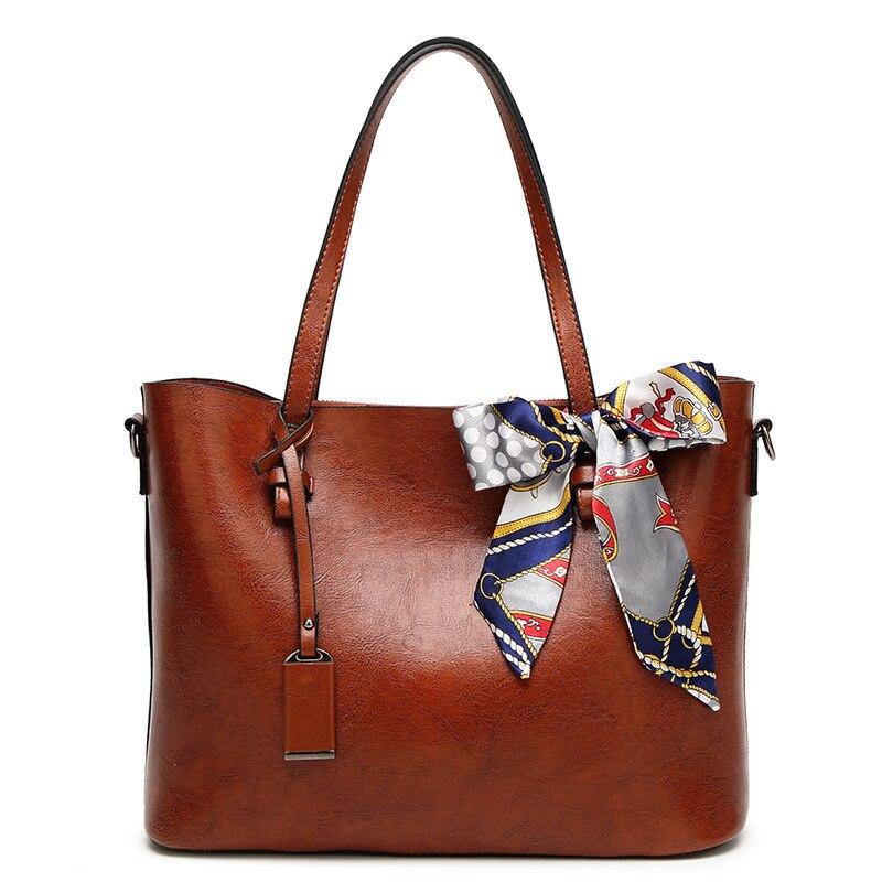 Carteras y bolsos grandes de cuero de gran capacidad de lujo para mujer, bufandas con borlas, bufandas con cremallera, bolsos de hombro, bolsos De mujer