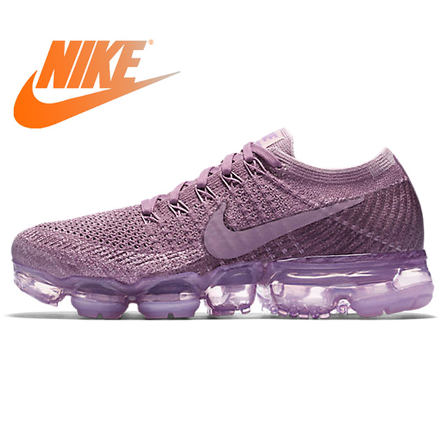 34127dd6559f6 Nike Air VaporMax Flyknit Women s Breathable Running Shoes Sport Outdoor  Sneakers Athletic Designer Footwear 2018 New 849557-500