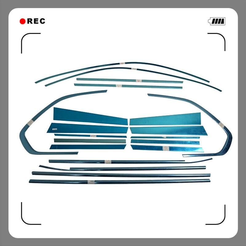 Pour BMW X5 E70 2008 2009 2010 2011 2012 2013 accessoires en acier inoxydable extérieur rebord de fenêtre décoration couvercle garniture