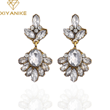 XIYANIKE 2017 New Arrival Big Brand Hot Sale Retro Fashion Zircon Crystal Earrings For Women G Jewelry Boucle D'oreille E327
