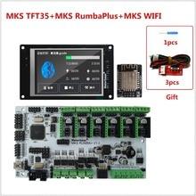 Nuevo 3d impresora de pantalla MKS TFT35 pantalla táctil + MKS Rumba Plus + MKS WIFI monitor remoto de controlador para FDM impresora